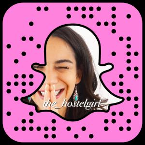 The Hostel Girl on Snapchat Travel Blogger Snapcode