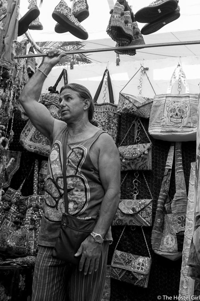 Las Dalias- The Hippy Markets of Ibiza in Black and White -3