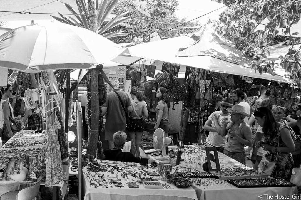 Las Dalias- The Hippy Markets of Ibiza in Black and White -4