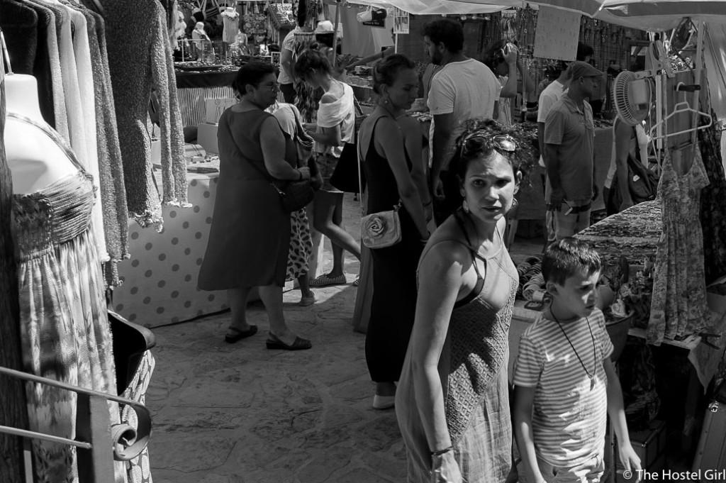 Las Dalias- The Hippy Markets of Ibiza in Black and White -5