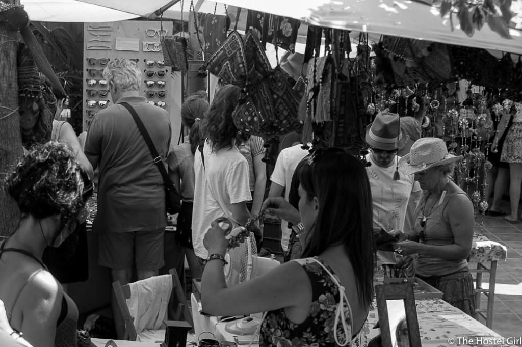 Las Dalias- The Hippy Markets of Ibiza in Black and White -6