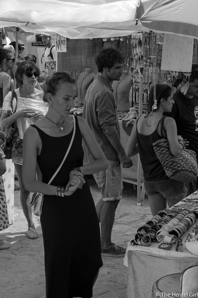 Las Dalias- The Hippy Markets of Ibiza in Black and White -7