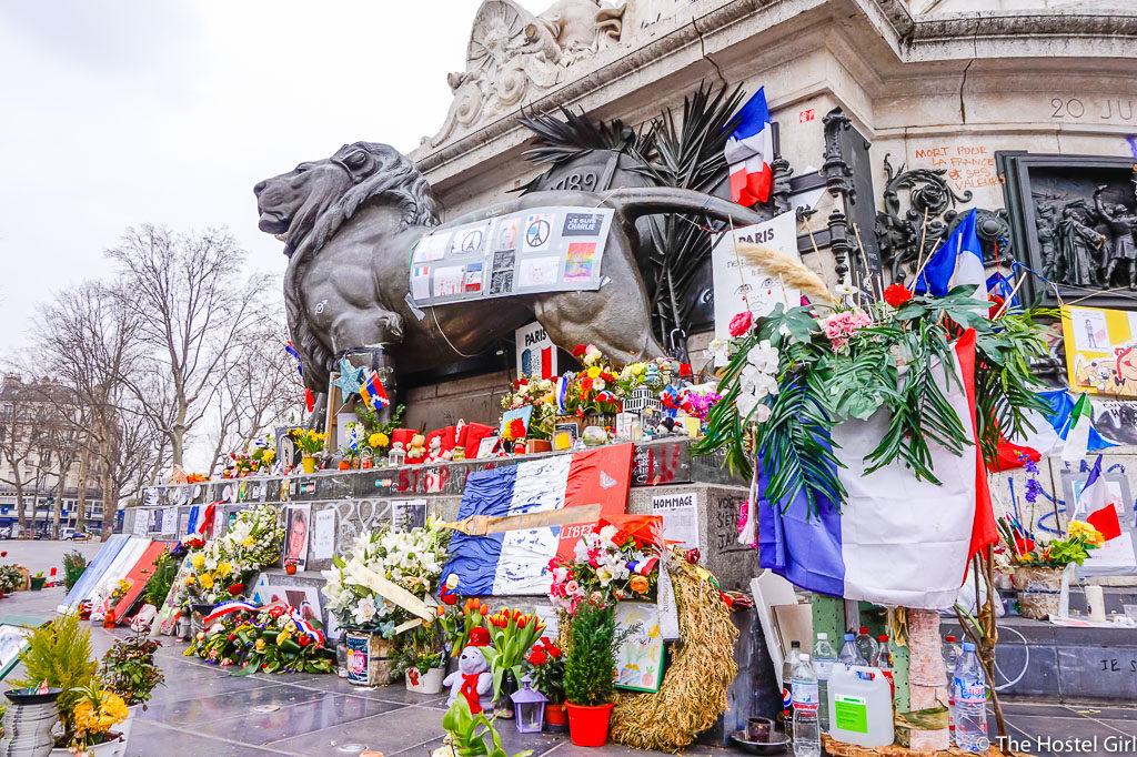 Terror Attack Tributes of Place de la République, Paris
