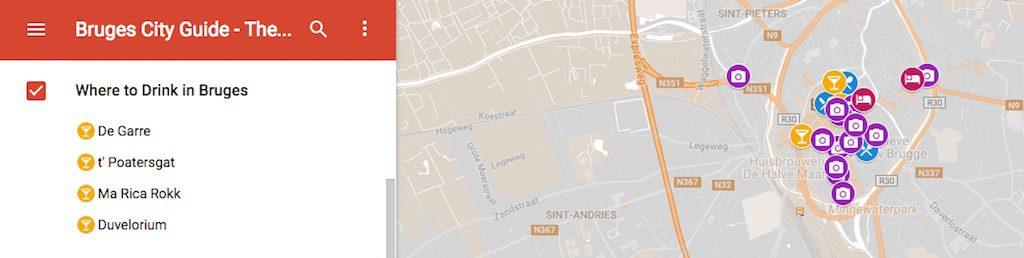 Bruges City Guide Map Travel Guide to Bruges