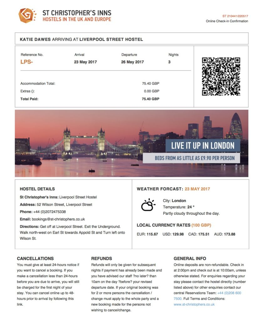 How To Check-In Online With St Christopher's Inn Hostels Step 7