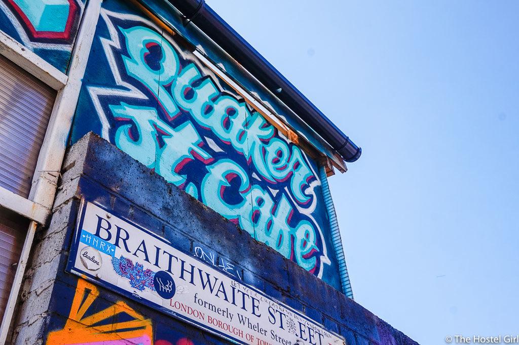 Quaker Street Cafe - Coffee Cake & Street Art in Shoreditch London -11