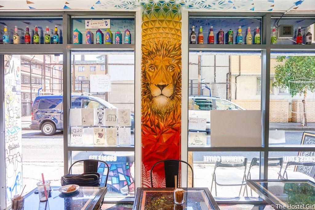 Quaker Street Cafe - Coffee Cake & Street Art in Shoreditch London -6