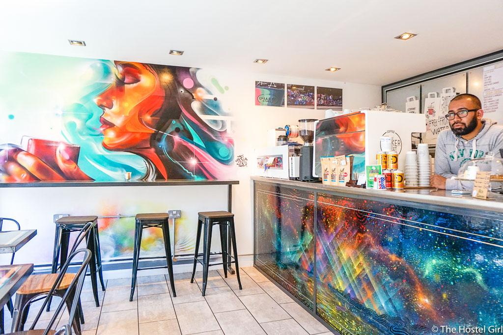 Quaker Street Cafe - Coffee Cake & Street Art in Shoreditch London -8