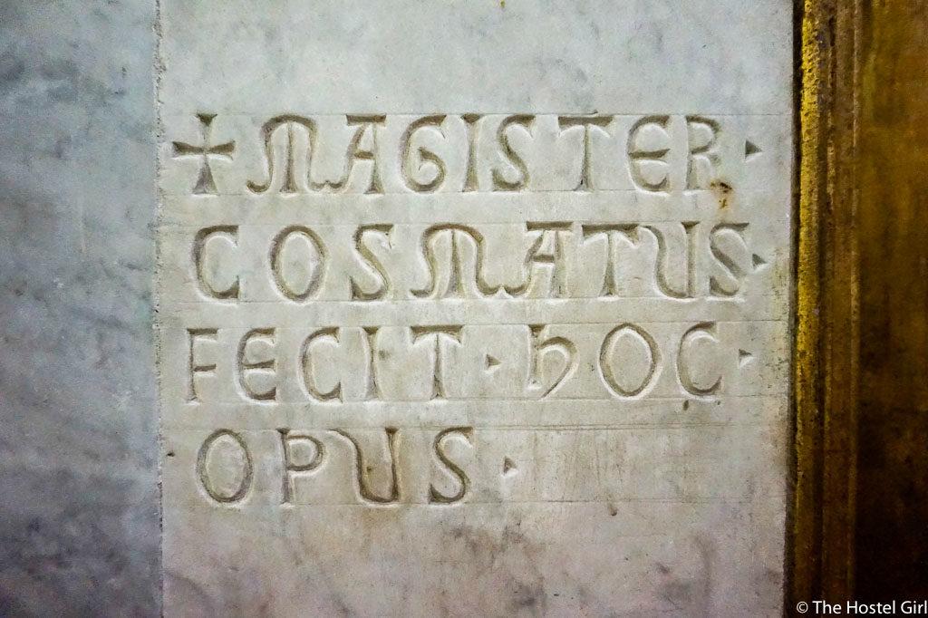 Cosmatesque Mosaic Style Churches of Rome - 8