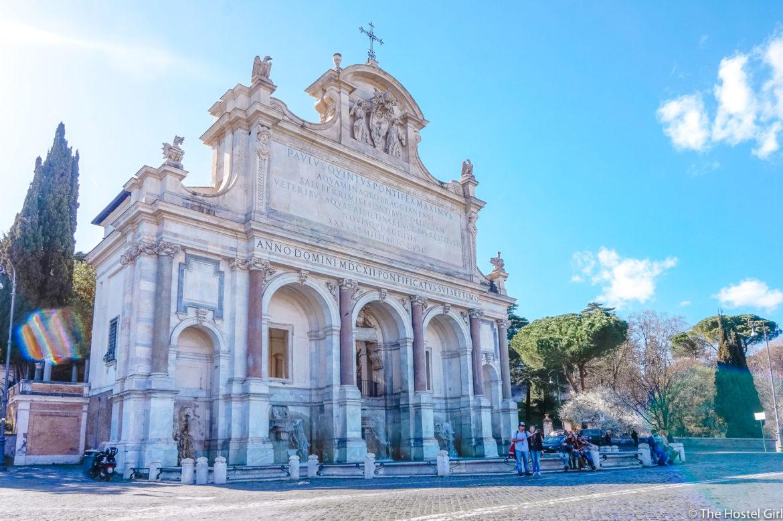 Fontana dell'Acqua Paola Rome With The Roman Guy Paola Water Fountain Garibaldi -1