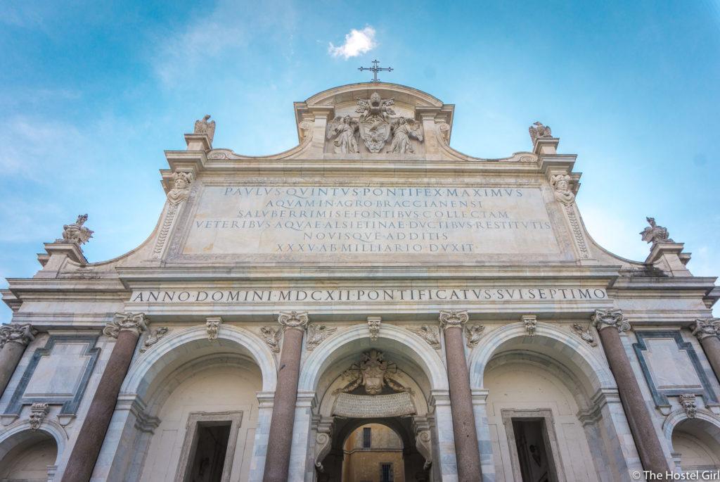 Fontana dell'Acqua Paola Rome With The Roman Guy Paola Water Fountain Garibaldi -18